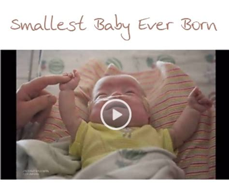 Smallest Baby Ever Born Goes Home From the Hospital | http