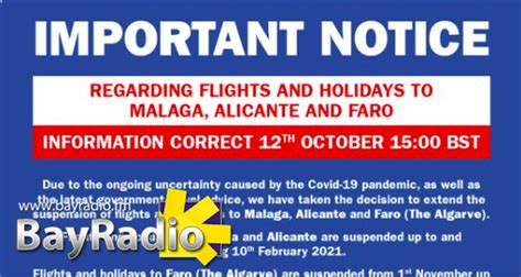 Jet2 cancels flights to Alicante Airport until Feb 2021