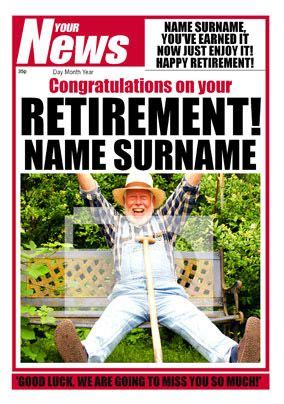 Your News - Retirement Congrats | Funky Pigeon