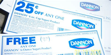 Free Dannon yogurt product and 25 cents off coupon