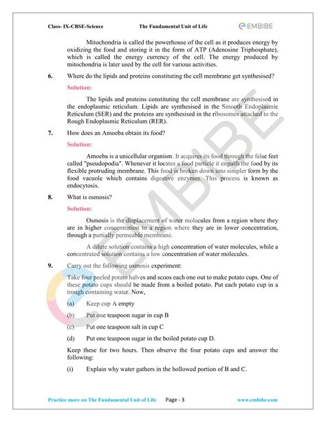 NCERT Solutions For Class 9 Science Chapter 5 (Free PDF