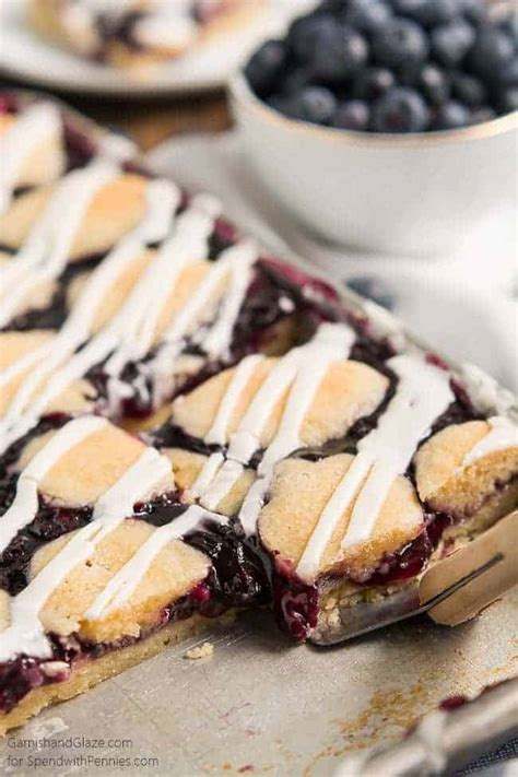 Blueberry Pie Bars - Spend With Pennies