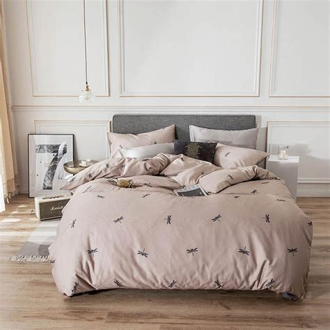 2019 Dragonfly Light Brown Brief Bed Cover Duvet Cover Set
