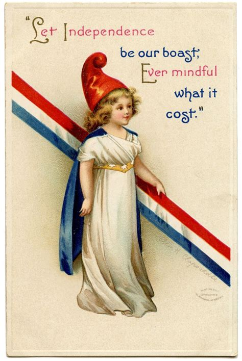 Free Vintage Patriotic Image - Cute Girl - The Graphics Fairy