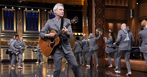 """Watch: David Byrne, """"American Utopia"""" Cast Perform on """"The"""