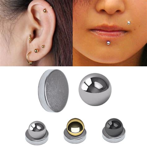 Magnetic Fake Cartilage / Labret Ball for Ear, Chin, Lip