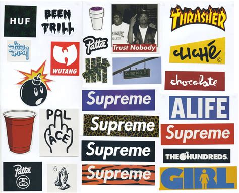 Supreme Sticker Pack - 25 Stickers - FREE SHIPPING