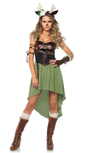 Dark Forest Fawn Costume, Sexy Deer Costume, Sexy Forest
