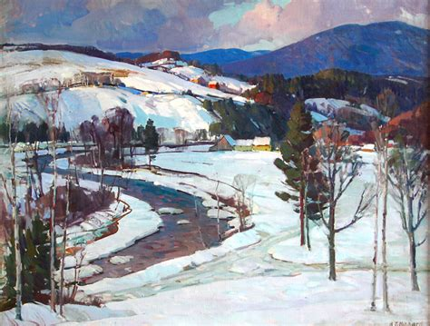 """""""West River Valley"""" Painting by Aldro Thompson Hibbard"""