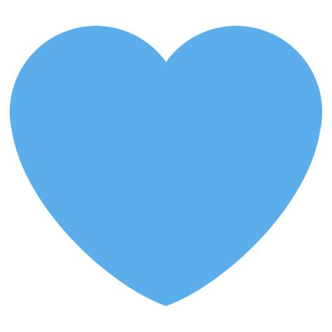Blue Heart Emoji for Facebook, Email & SMS   ID#: 2019