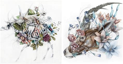 Anatomical Art Combines Animals with the Flora of the