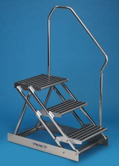 3 Step Folding Dock Step - steps for showrooms and boat