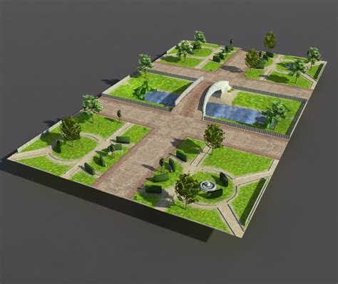 3D asset Low poly Park   CGTrader