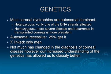 PPT - CORNEAL DYSTROPHIES AND DEGENERATIONS: DIAGNOSIS AND