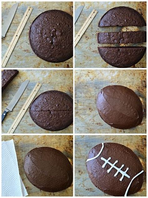 How to Make a Football Cake (Without Using a Specialty Pan