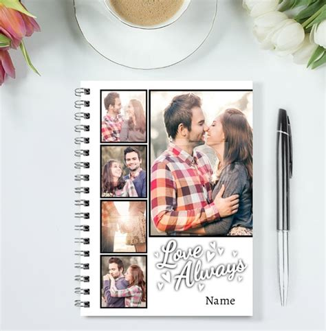 ZDISC 8/20 Love You Always Romantic Collage Notebook