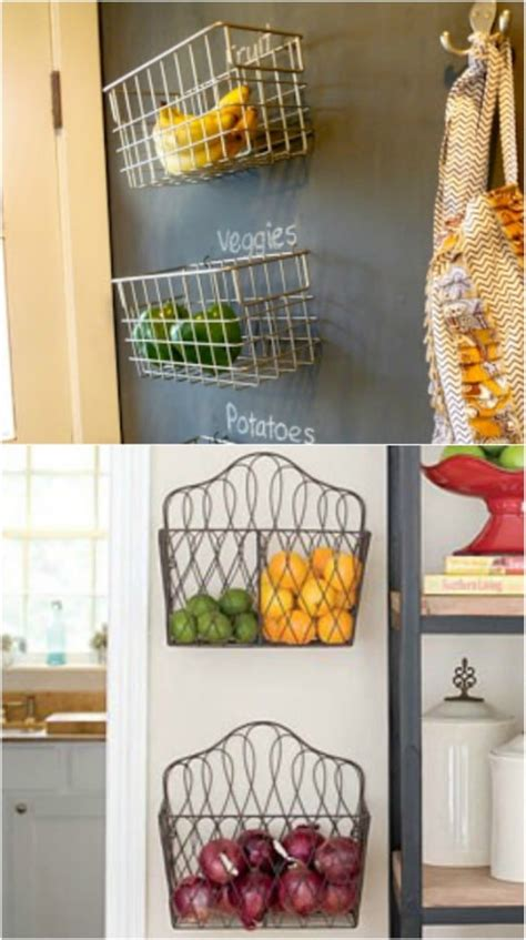 20 Creative DIY Produce Storage Solutions To Keep Fruits