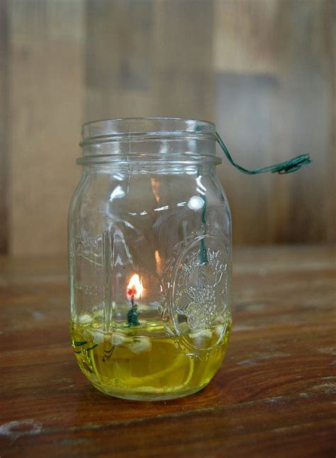 How to Make a Mason Jar Oil Lamp DIY Projects Craft Ideas