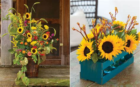 September Sunflower Centerpieces - Southern Lady Mag