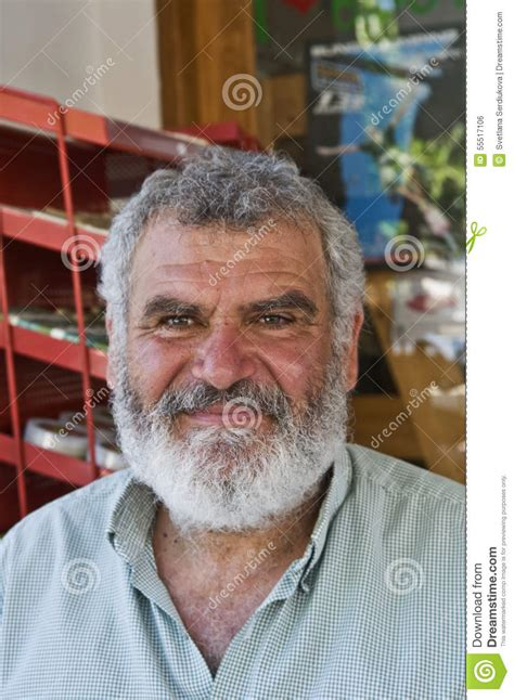 Greek Man With Beard And Moustache Editorial Photo - Image