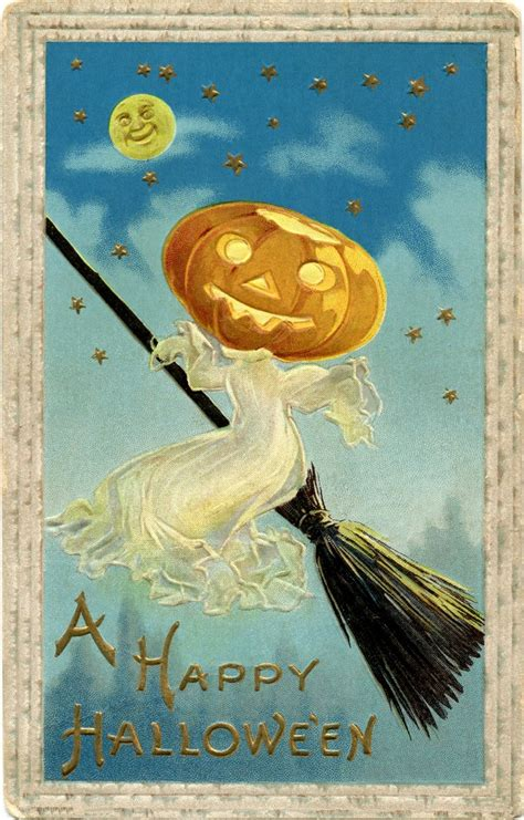 Vintage Halloween Image Free - Ghost - The Graphics Fairy