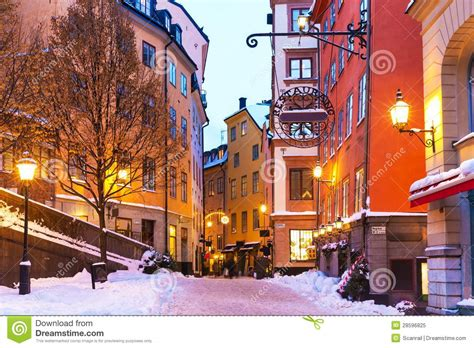 Winter In The Old Town In Stockholm, Sweden Royalty Free