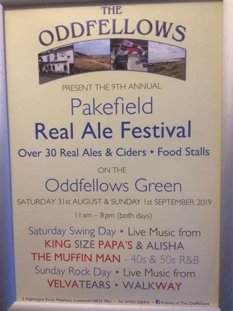 Pakefield Beer Festival, The Oddfellows, Lowestoft, August