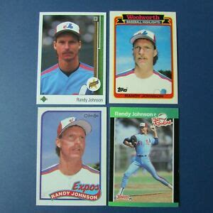 RANDY JOHNSON (12 diff) 1989 Rookie cards MONTREAL EXPOS