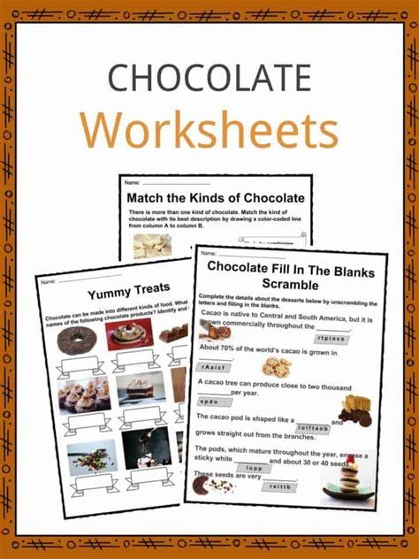 Chocolate Facts, Worksheets, Origin, Types & History For Kids