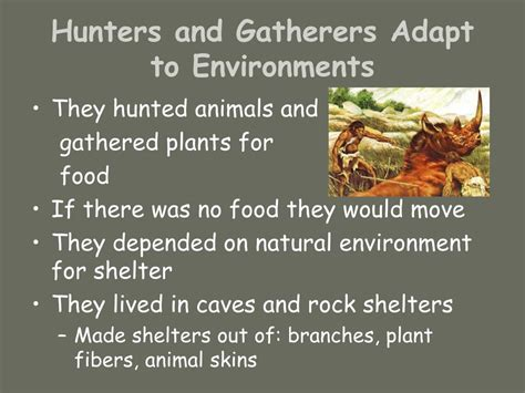 PPT - Hunters and Gatherers PowerPoint Presentation, free