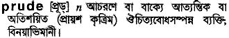 prude - Bengali Meaning - prude Meaning in Bengali at
