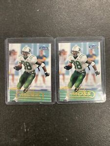 1998 FLEER TRADITION RANDY MOSS RC ROOKIE 2 CARD LOT #237