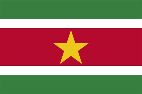 Flag of Suriname image and meaning Suriname flag - country