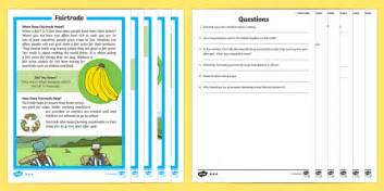 Fairtrade Differentiated Reading Comprehension Activity - KS1