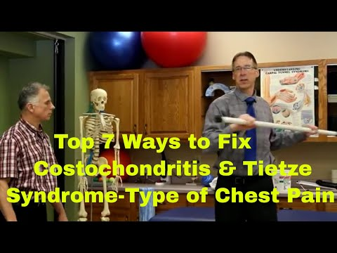 Tietzes syndrome causes pain and tenderness over the