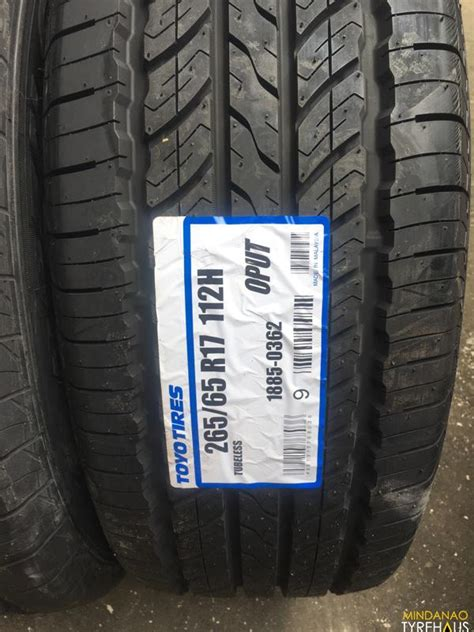 265-65-r17 Toyo OPUT bnew open country tires   Mindanao