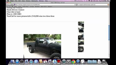 Craigslist Wichita Used Cars for Sale by Private Owner