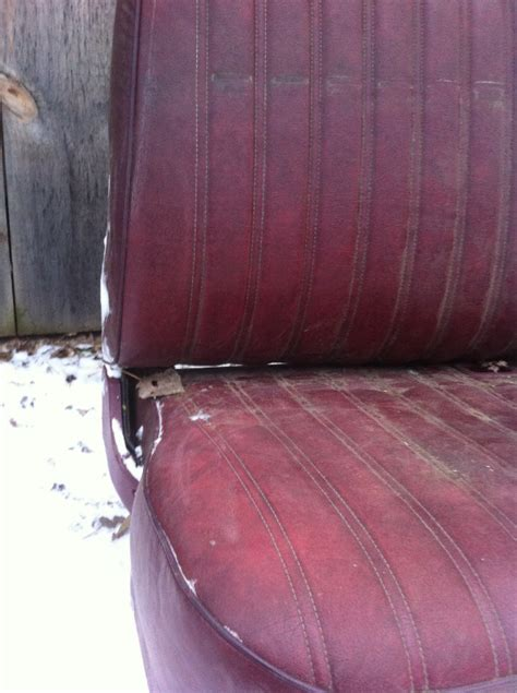 1973 - 1987 Chevrolet / GMC Red Bench seat Square Body C10