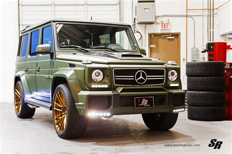 Military Green G 63 AMG With Unassorted Wheels - autoevolution