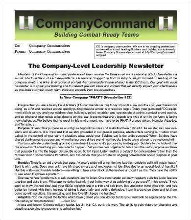 Company Newsletter Template - 9+ Free Word, PDF Documents