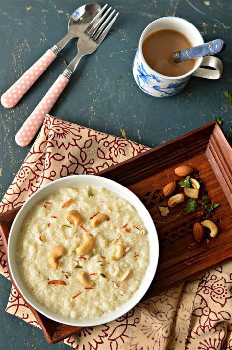 Delicious Indian rice pudding - chawal kheer   The Veggie