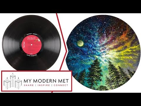 The Fab 4 Vinyl Record Painting Collection