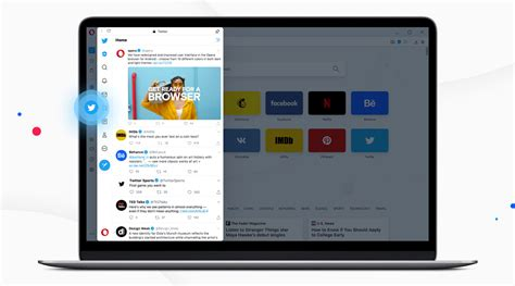 Opera browser adds Twitter sidebar feature in version 69