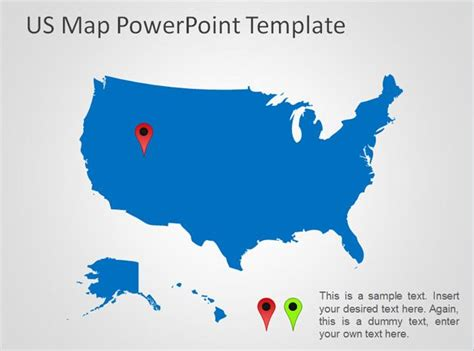 Free US Map PowerPoint Template - Free PowerPoint