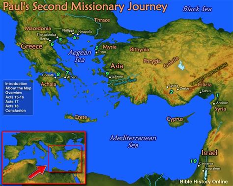 Paul's Second Missionary Journey (Bible History Online)