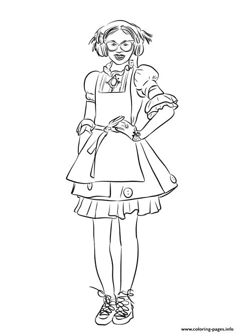Dizzy From Descendants 2 Coloring Pages Printable