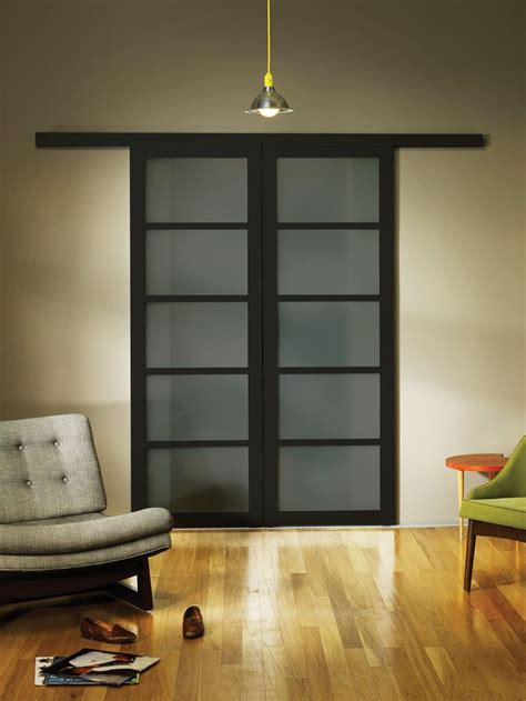 Smoked Frosted Glass Wall Slide Doors | Sliding doors