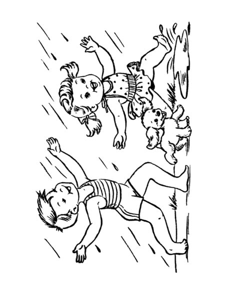 Free Children Playing Coloring Pages, Download Free