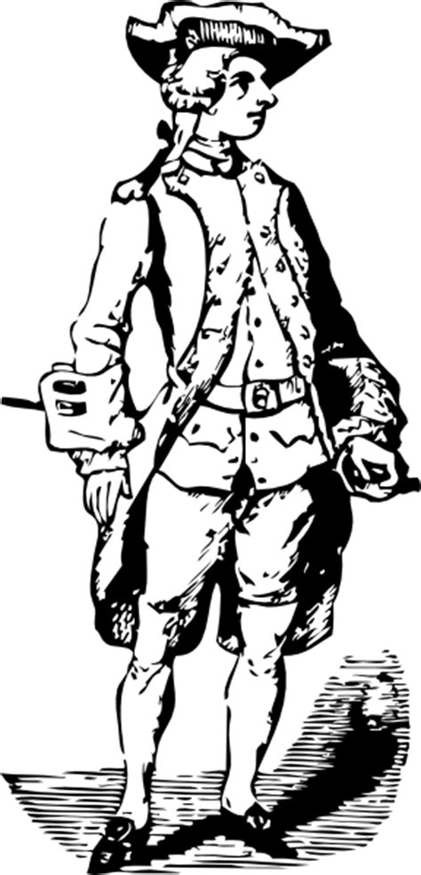 Soldier Historic Cothing Clip Art at Clker
