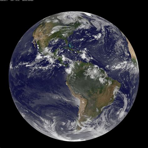 NASA GOES-13 Full Disk view of Earth Captured August 17, 2